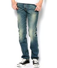 AUTHENTIC MENS NUDIE JEANS DENIM CO THIN FINN ORGANIC RING GREENS ITALY $250+