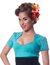 Women's Steady Clothing Sophia Top Mint Retro Vintage Rockabilly Pinup