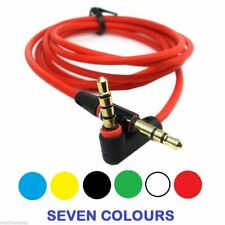 New 1.2m Colour Angled Aux Cable Stereo Audio 3.5mm Input Cord Male to Male