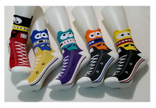 Unisex Mens Womens Kids Fun Novelty SNEAKERS TRAINERS Print Cotton Ankle Socks