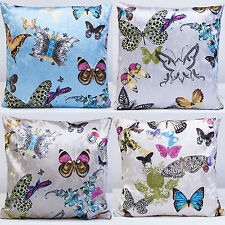 """BUTTERFLY CUSHION COVERS CHAIR 17""""x 17"""" VELVET BEDROOM CONSERVATORY PORCH"""