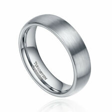 6mm/8mm Tungsten Carbide Ring Wedding Band Dome Brushed Men's Women Jewelry