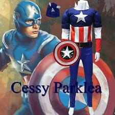 Deluxe Muscle Captain America Adult Costume + Mask Boot-Covers Shield S-XL