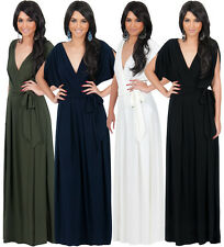 NEW Womens Batwing Sleeves VNeck Evening Party Maxi Dress Plus Size S M L XL 2X