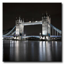 "Large Square London Tower Bridge Canvas Picture. 20""x20"". Var Colours. Wall Art."