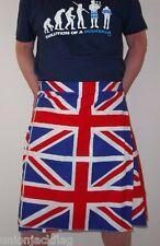 Union Jack Flag Kilt - all sizes -Fancy Dress - Made in Britain to order