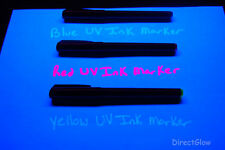Invisible UV Blacklight Ink Marker Blue Red Yellow