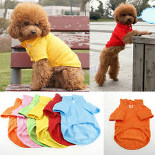 Cute Pet Apparel Dog POLO T-Shirts Puppy Casual Suit Cotton Clothes XS S M L New