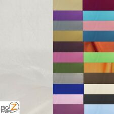 "SOLID POLYESTER TAFFETA FABRIC - 25 Colors - 60"" WIDTH SOLD BY THE YARD"