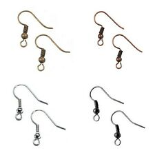 Earring Hooks Silver/Black/Antique Bronze/Red Copper 100 pcs O