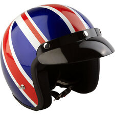 Viper RS-04 Union Jack Blue Red White Motorcycle Helmet UK British Scooter Moped