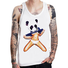 Panda Girl Skate tattoo ink sexy street punk rock metal white Tank Top