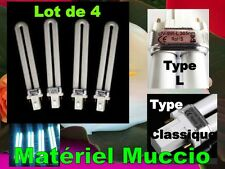 4 NEONS 9W TUBE pour LAMPE UV ONGLES GEL AMPOULE Manucure Normes CE Rohs 365 nm