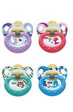 NUK Happy kids Soother dummies 6-18 m Latex Orthodontic Shape Popular Motifs