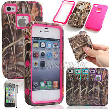 Straw Grass Dual Layer Shockproof Rubber Matte Combo Case Cover For iPhone 4 4S
