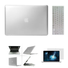 "Silver Laptop Rubberized Hard Case, Keyboard Skin, For Macbook Air Pro 11""13""15"""