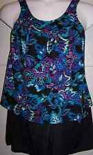 7971   PLUS SIZE 2 Pc Multi Color Swimsuit Assorted Sizes Available