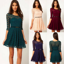 2014 New Charm Spring Summer Women Sexy Lace Evening Party Office Short Dress