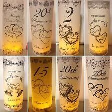 Personalized Hearts Wedding Anniversary Luminaries Table # Numbers Centerpieces