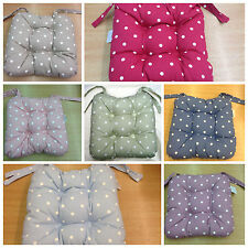 Chunky Dotty Seat Pads In Nine Colours 100% Polyester ***Free P&P***