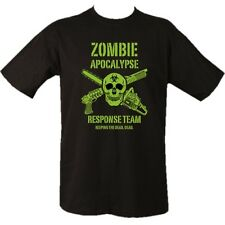 ZOMBIE APOCALYPSE T-SHIRT 100% COTTON MILITARY SKULL GAMING MENS CLOTHING TOP
