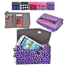 Womans Designer Patterned Wristlet Wallet Cover fits ZTE Mobile Cell