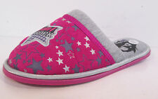 Girls pink and grey textile mule slipper Camp Rock