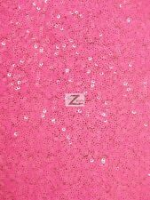 """MINI DISC SEQUIN NYLON MESH FABRIC 54""""/55"""" WIDE BY THE YARD FASHION DRESS GOWN"""