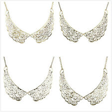 Wholesale Elegant Flower Shape Lace Hollow Handmade Collar Women Necklace Hot