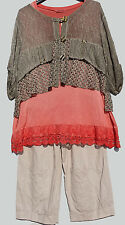 Layered Look Jacket Slip Top Lace Lace M L Xl Xxl Xxxl Made in Italy