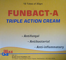 Funbact-A - Fungal, Antibacterial and Anti-inflammatory Triple Action Cream 30g
