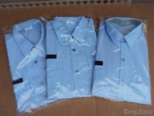 New Un-issued French Army Military Air Force Blue Shirt Blouse 3 for £10, Size L
