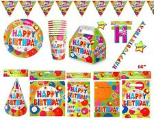 Bubble Happy Birthday Party Decorations Tableware Cups Banner Plate Invites Bags