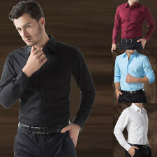 Paul Jones 2014 Men's Luxury Stylish Casual Dress Slim Shirts 4Colours US S ~ XL