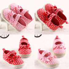 New Fashion Pink/Red Newborn Baby Toddler Girl Shoes Soft Sole Velcro Crib Shoes