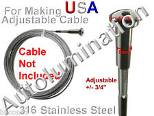 Adj Cable Swage Stud Crimp Stainless Steel 316 Marine Aircraft Railing 3 4 5 mm