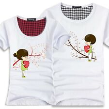Women men tops for summer clothes  Lovers couple T- shirt  Wishing Tree 4#