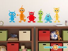 Alien Fabric Wall Decals, Set of 6 Aliens, Three Different Sizes Available