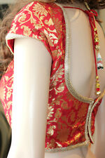 Brocade Blouse mixed colours bollywood sari saree top