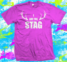 I am the stag T-Shirt - New - Bright Pink - Small to 3XL