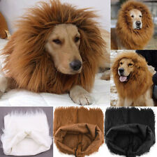 NEW CHEAP~Pets Fancy Dress up Halloween Costume Hat Wigs Lion Mane Wig For Dogs