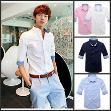 Men's Fashion Korean Slim Fit Half Sleeve Shirt/t-shirt Classic Casual Shirts