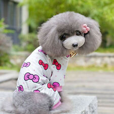 Pet Dog Cartoon Pattern Soft Cotton Jumpsuit Pajamas Puppy Clothes Shirt Apparel