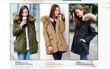 2014 NEW  Winter Women's Heavy Hair Collar  Long Cotton-Padded Jacket Coat CYL88