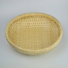 RURALITY Eco-friendly Round Willow Wicker Storage Basket Fruit Bowl Bread Basket