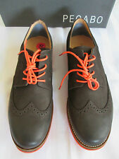 PEGABO Mens ANTRANIC Wingtip Nubuck Leather Oxford Shoes Size 9 and 10.5