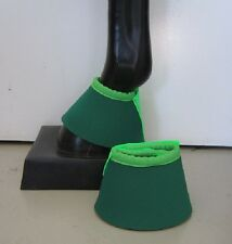 Horse Bell or overreach Boots Dark Green & Lime  AUSTRALIAN MADE Protection