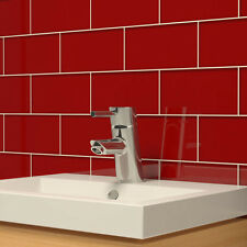 Glass Subway Tile (Ruby Red)
