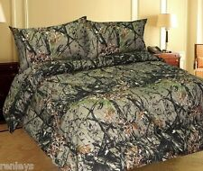 All Sizes Bed Sheets Woodland Forest Camo MicroFiber Bedding Set 4 Piece