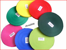 50 METRES POLYPROPYLENE STRAPPING/ WEBBING. ( CHOICE OF COLOURS & SIZES )